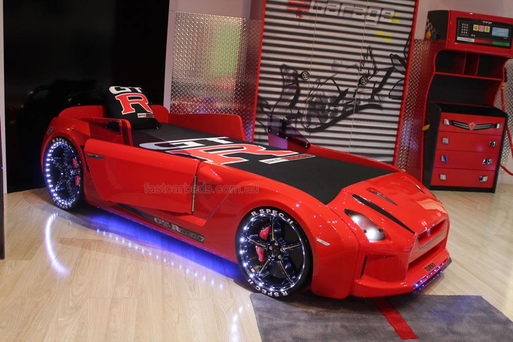 Car Bedding: Legendary GT Racer Red Kids Car Bed